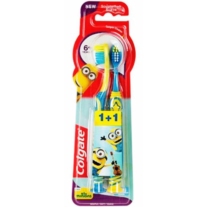 2 brosses à dents +6ans les minions souple Colgate-214515