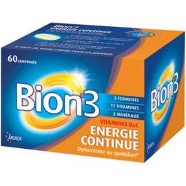 3 energie continue 60 comprimés - bion -203755