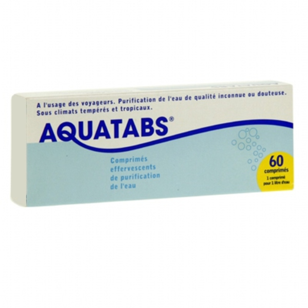 - 60 comprimés effervescents - aquatabs -146107