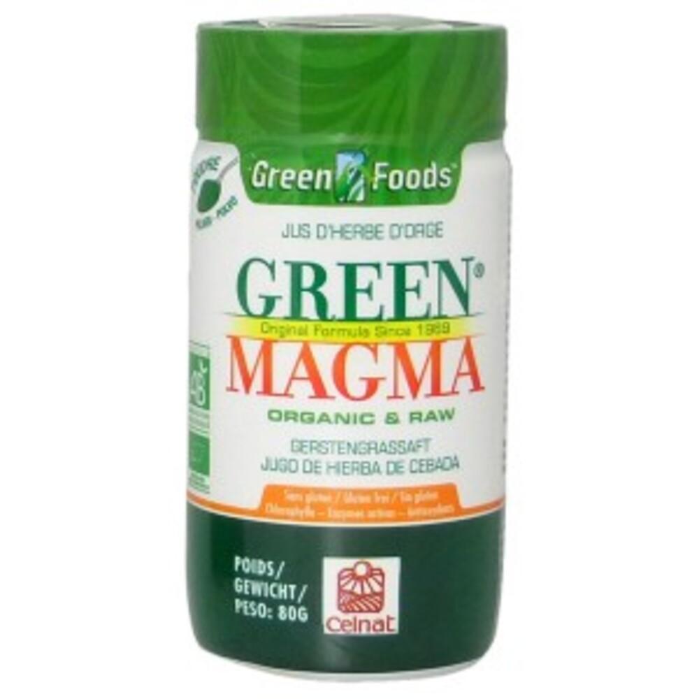 - 80.0 g - jus d'herbe d'orge - green magma Sans gluten et sans OGM-9272