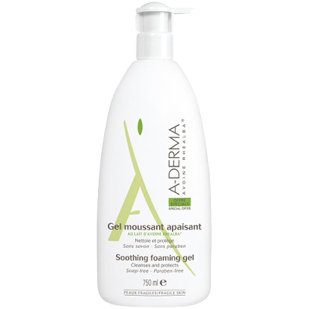 A-derma gel moussant apaisant - 750ml - aderma -146878