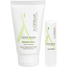 A-derma lot kiss & touch crème mains 50ml + stick lèvres 4g offert - aderma -222552