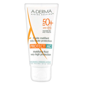 A-derma protect ac fluide matifiant spf50+ - 40ml - aderma -205609