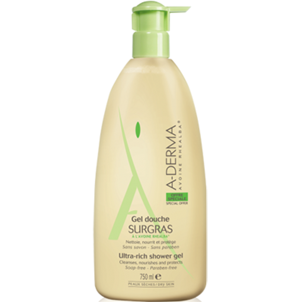 A-derma sensifluid gel douche surgras - 750 ml Aderma-144587