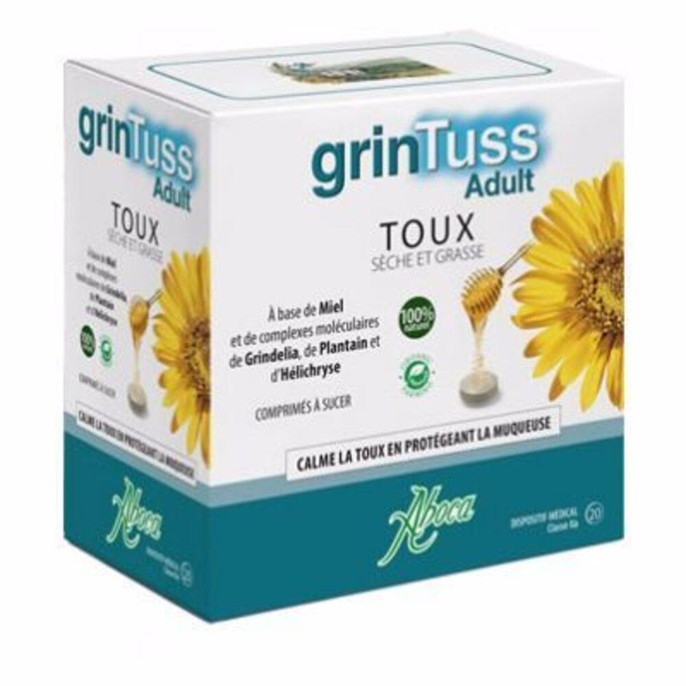 ABOCA GrinTuss Adulte Toux 20 comprimés à sucer - Aboca -216582