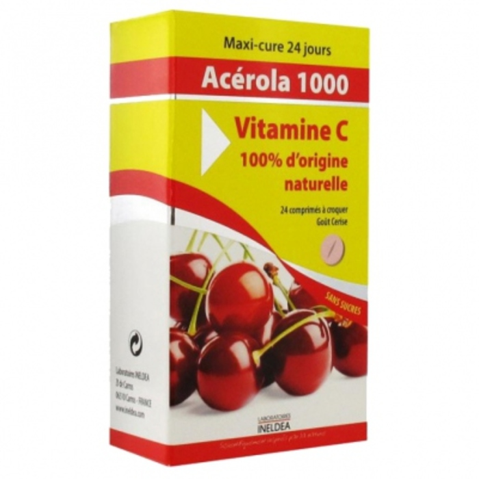 Acérola 1000 - 24 comprimés à croquer Ineldea-148407