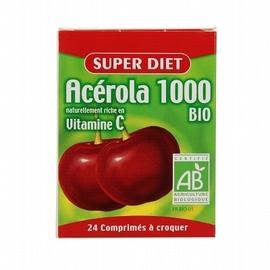 Acérola 1000 bio - 24 comprimés - 24.0 unites - vitamine c - super diet Vitamine C d'origine naturelle-4599