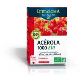 Acérola 1000 cerise bio - 24 comprimés - divers - diétaroma -142000