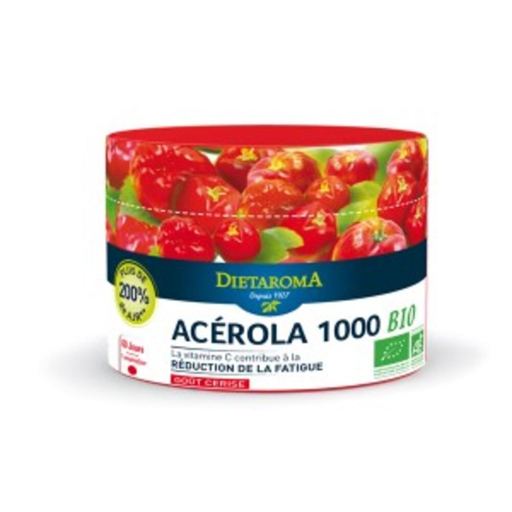 Acérola 1000 cerise bio - 60 comprimés - divers - diétaroma -141998