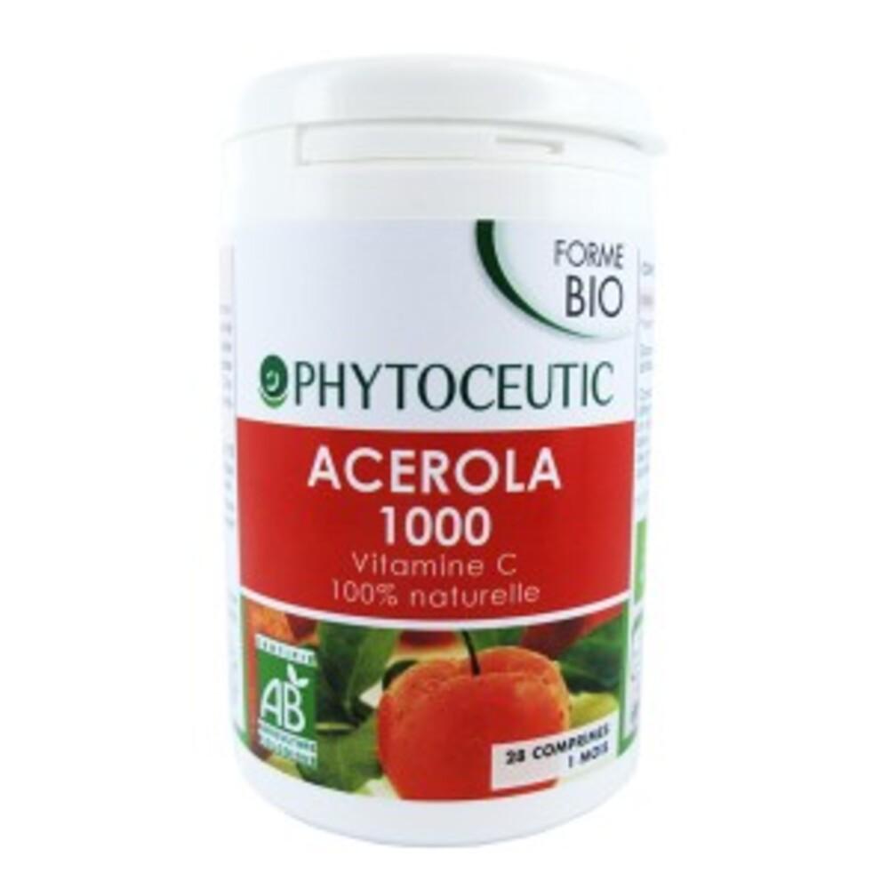 Acérola 1000 mg bio - 28.0 unites - forme - institut phytoceutic Vitamine C-5839