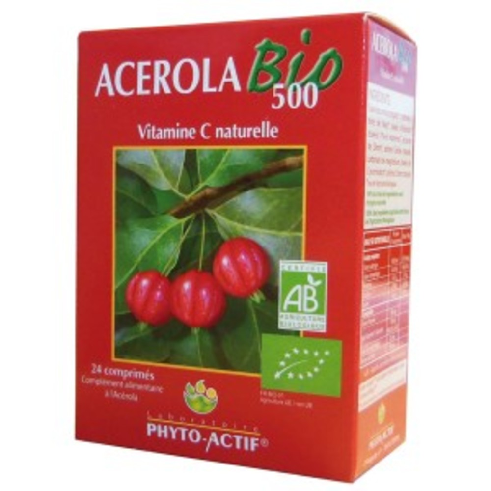 Acérola bio 1000 - 2.0 unites - les compléments alimentaires - phyto-actif -127009
