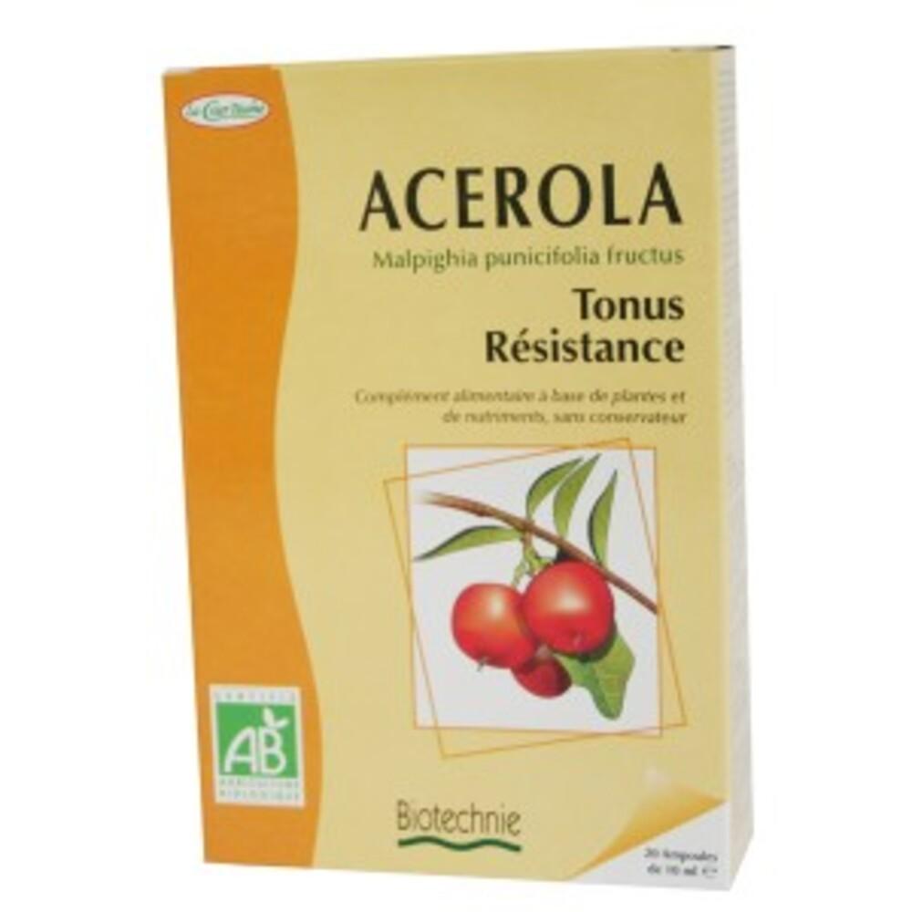 Acérola bio - 20 ampoules - divers - biotechnie la cour'tisane -136591