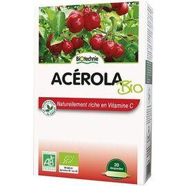 Acérola bio 800 20 ampoules - biotechnie -136591