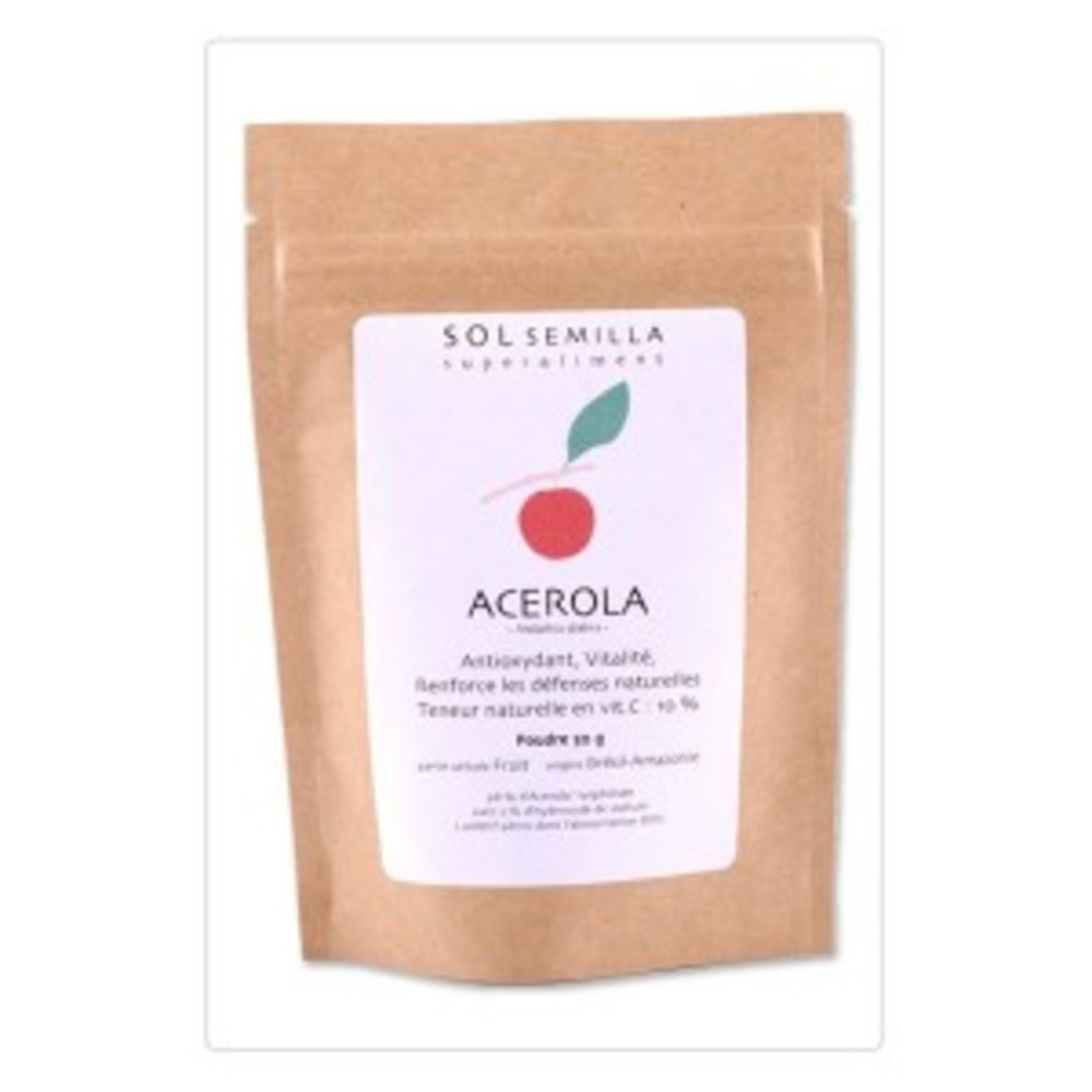 Acerola lyophilisée poudre BIO - 50 g - divers - Sol Semilla -142677