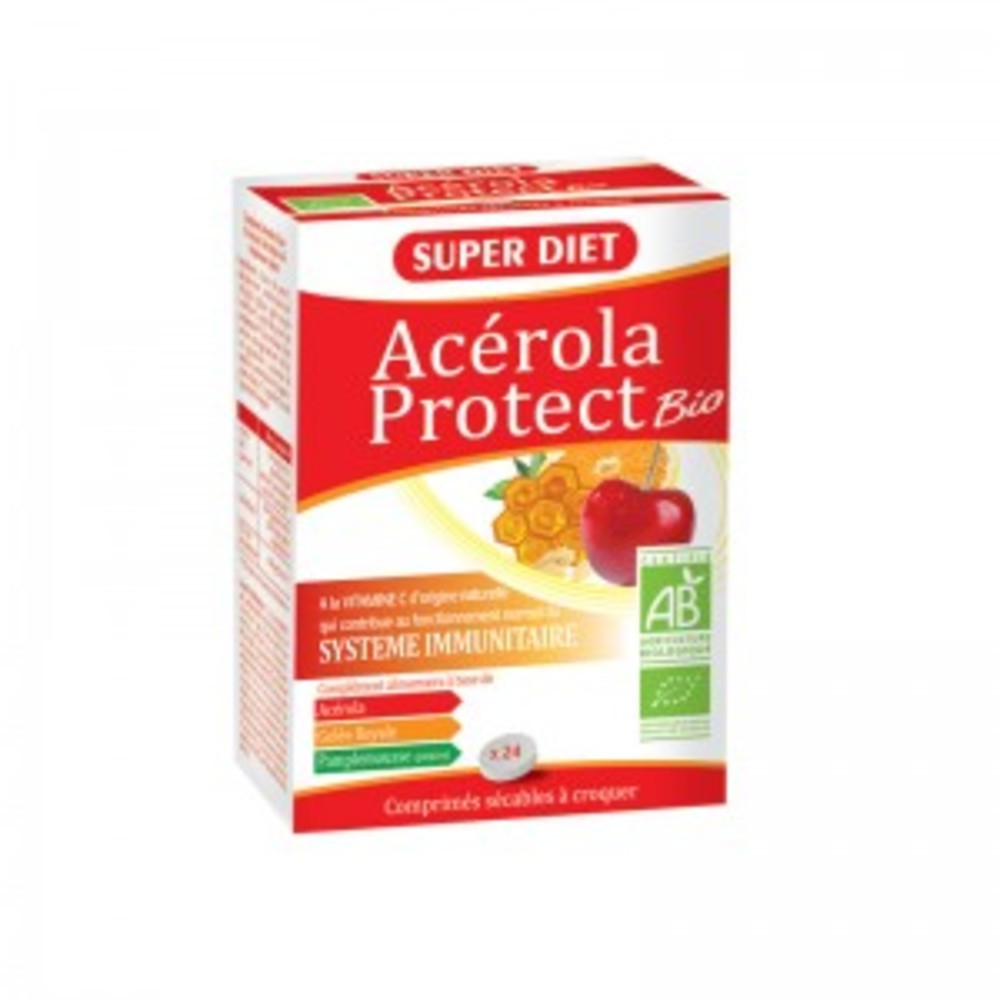 Acérola protect' - 24.0 unites - vitamine c - super diet -125778