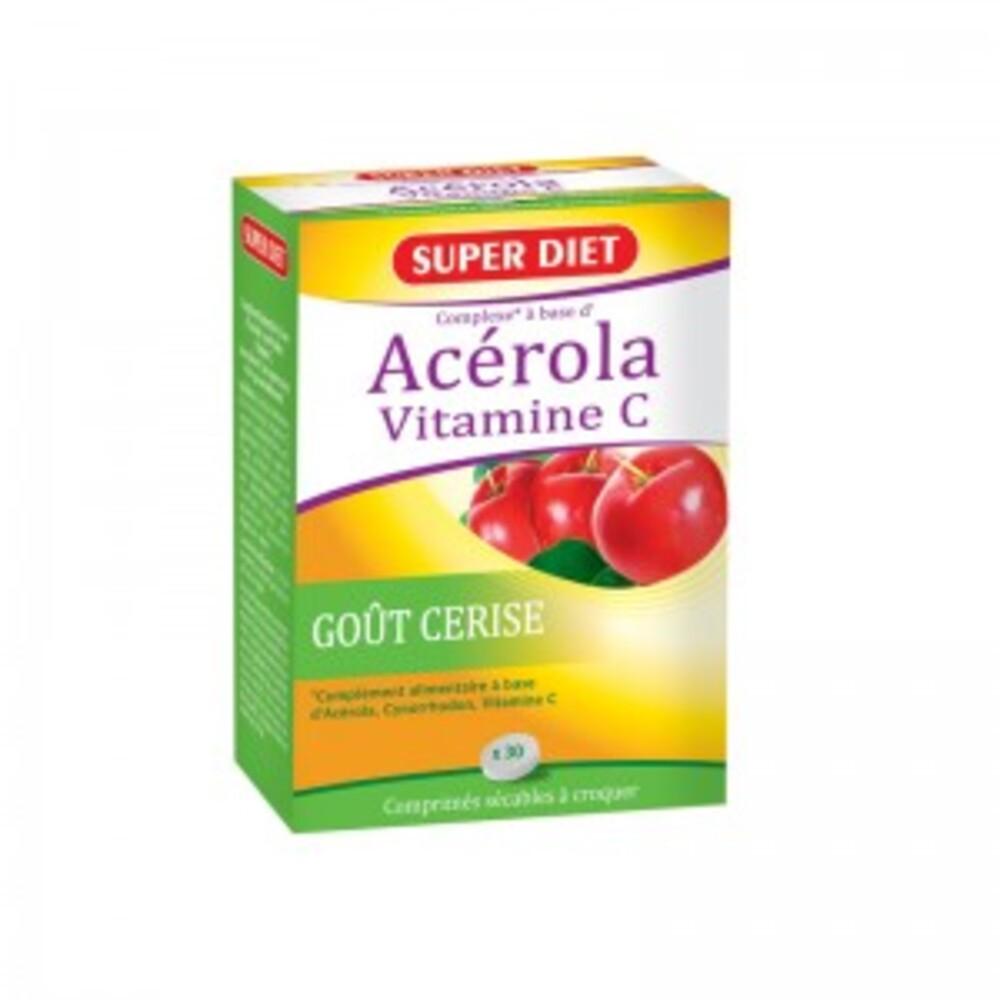 Acérola Vitamine C - 30.0 unites - Vitamine C - Super Diet -4597