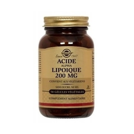 Acide alpha lipoïque 200mg - solgar -201884
