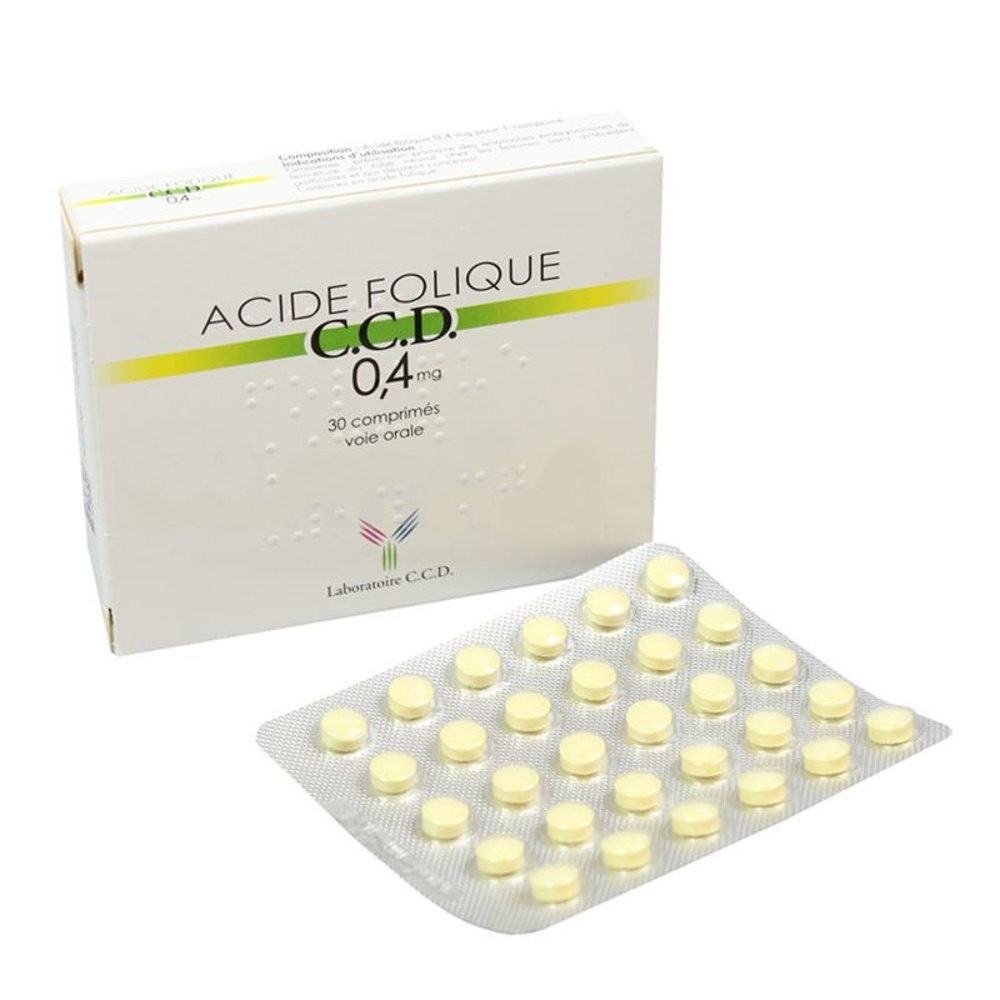 Acide folique ccd 0,4 mg - 30 comprimés - laboratoire ccd -192263