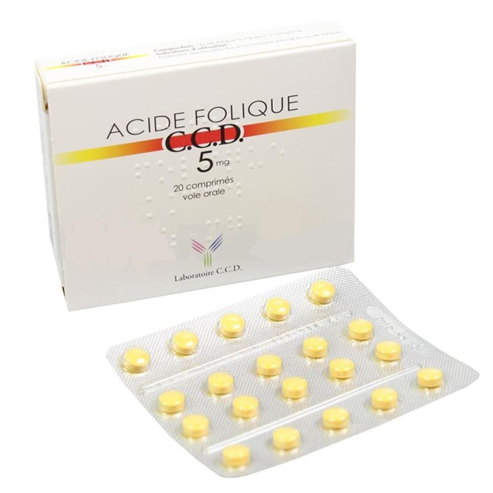 Acide folique ccd 5mg - 20 comprimés - laboratoire ccd -192386