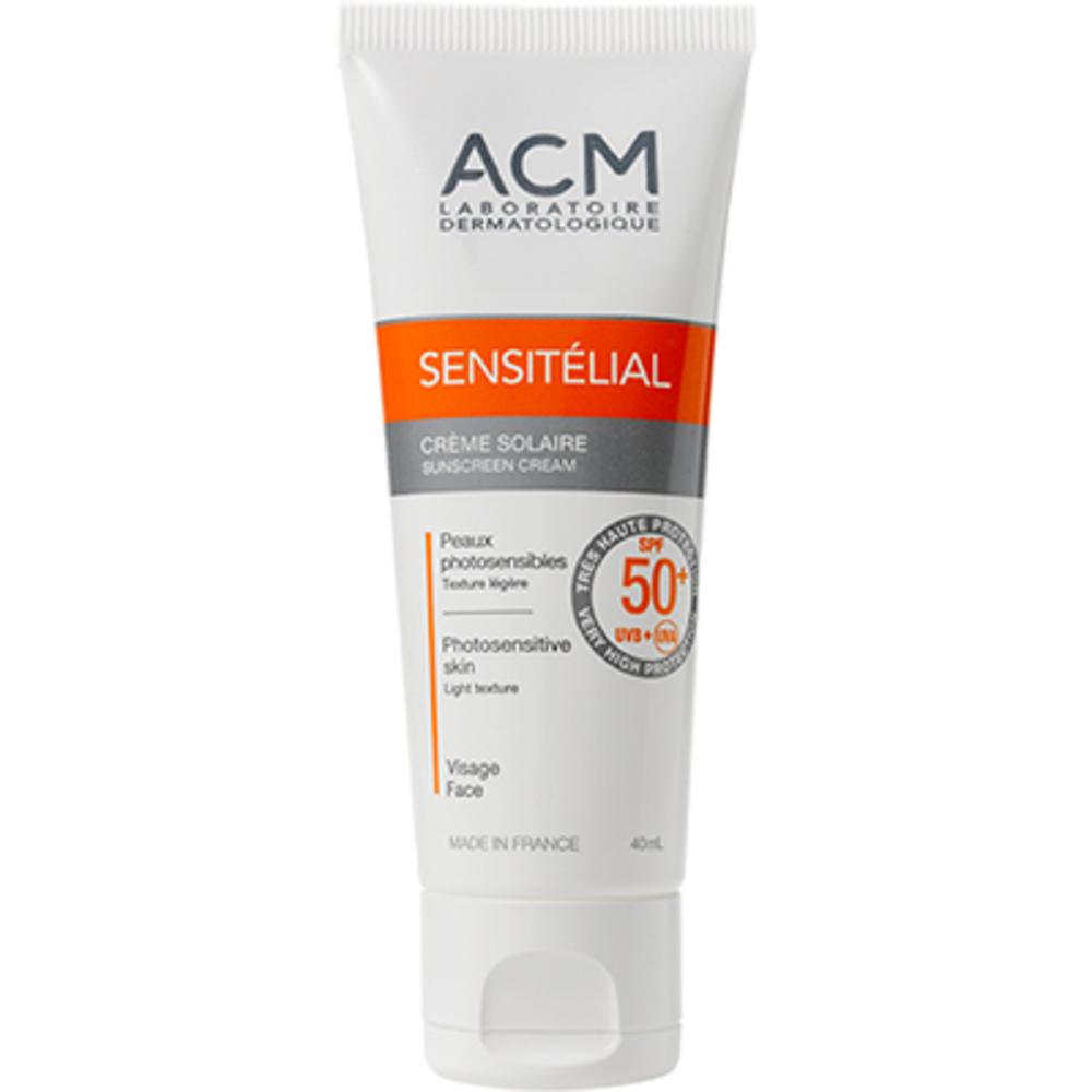 Acm sensitélial crème solaire spf50+ 40ml - acm -220522
