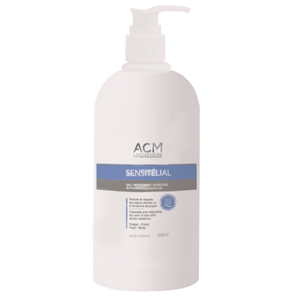 Acm sensitélial gel nettoyant surgras 500ml - acm -220546