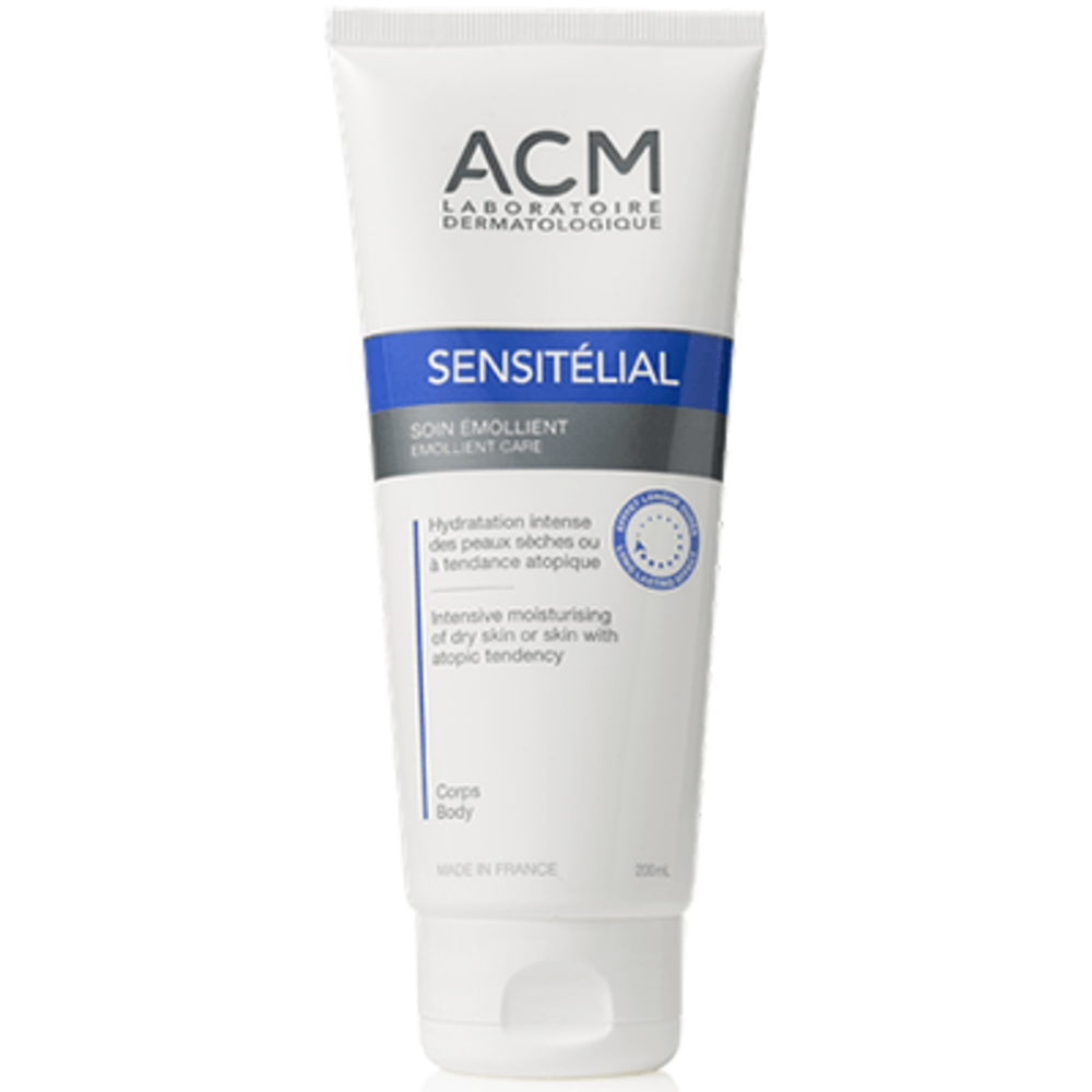 Acm sensitélial soin emollient 200ml - acm -220541