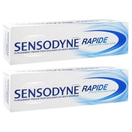 Action rapide dentifrice - lot de 2 x 75ml - sensodyne -198477