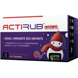 Actirub enfant goût framboise 20 sachets - sante verte -223054