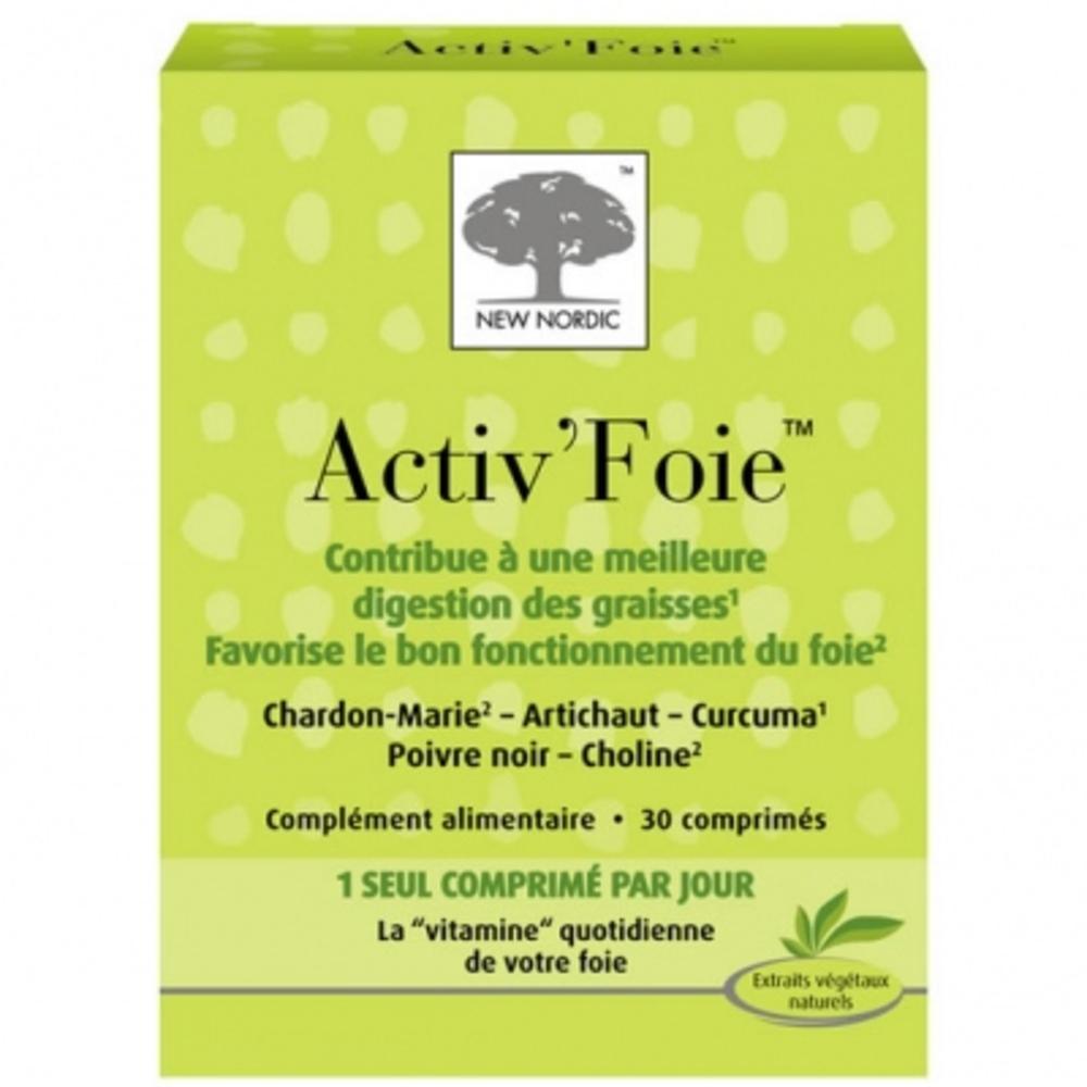 Activ foie - 30 comprimés - new nordic -148061
