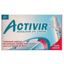 Activir 5% crème - pompe-doseuse - 2.0 g - laboratoire gsk -192936