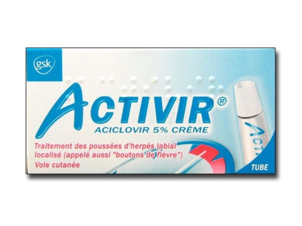 Activir 5% crème - tube - 2.0 g - laboratoire gsk -192907