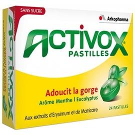 Activox pastilles menthe eucalyptus x24 - arkopharma -190913
