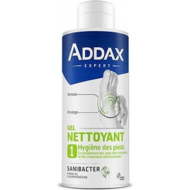 Addax gel pieds nettoyant antifongique sanibacter - 125 ml - 125.0 ml - gamme pieds - addax -140933