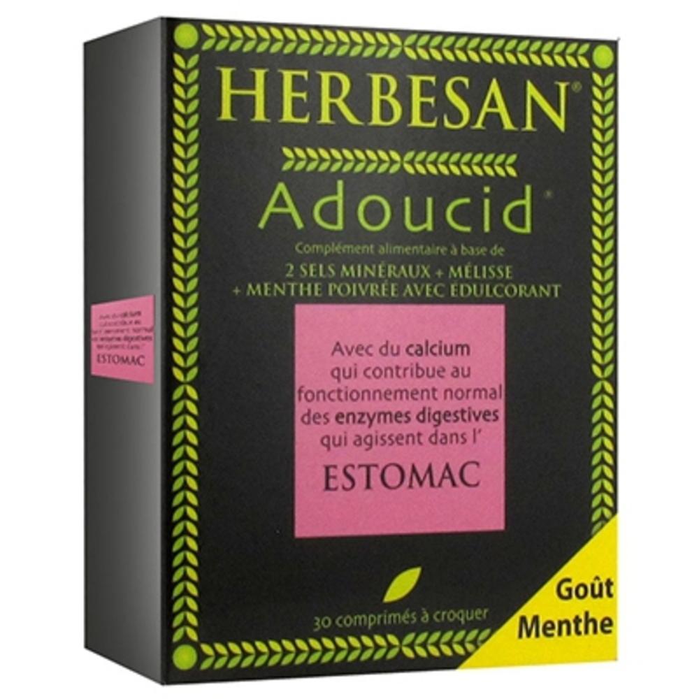 Adoucid menthe - 30.0 unites - transit - digestion - herbesan Estomac-132398