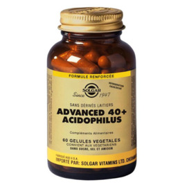 Advanced 40+ acidophilus 60 gélules - solgar -195435