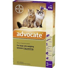 Advocate antiparasitaire grands chats 3x0,8ml - bayer -223871