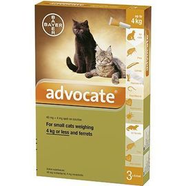 Advocate spot-on petits chats 3 pipettes - bayer -223872