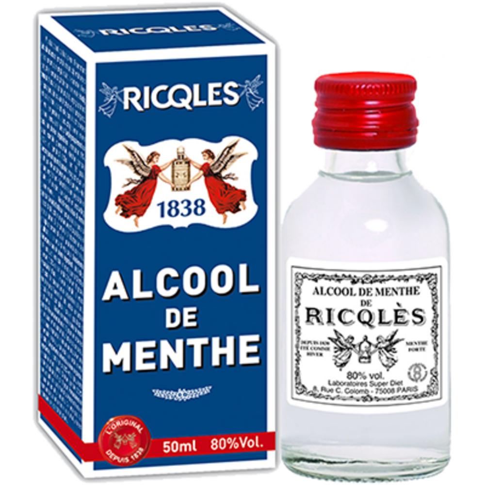 Alcool de menthe - 50.0 ml - historique - ricqles -132014