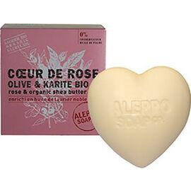 Aleppo soap savon d'alep coeur de rose olive & karité bio 200g - aleppo-soap -225978