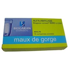 Alfa-amylase  conseil - 18 comprimés - biogaran -192530