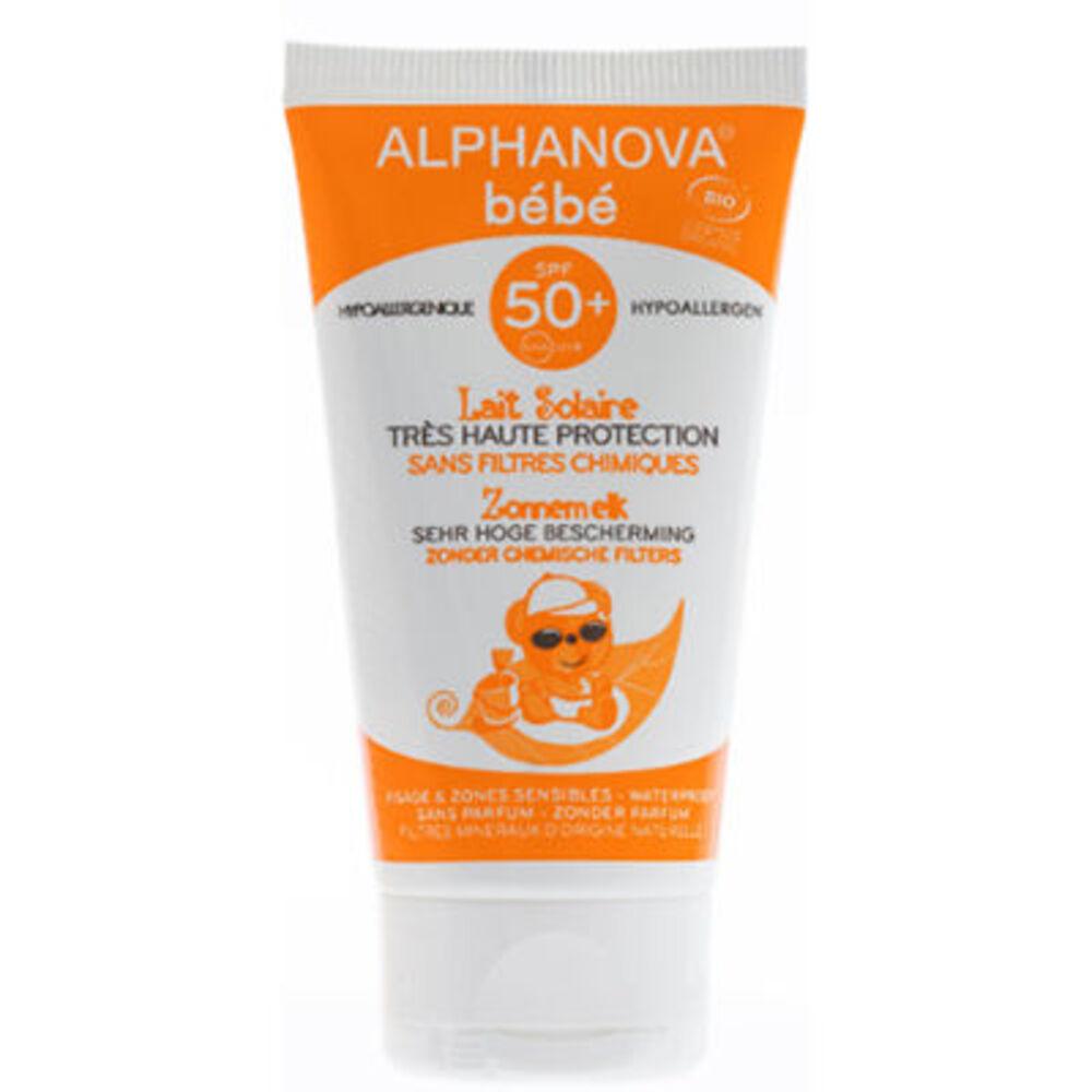 Alphanova bébé lait solaire spf50+ bio 50g - divers - alphanova -133350