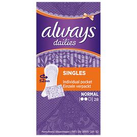 Always dailies singles normal - 28 pochettes individuelles - always -206106