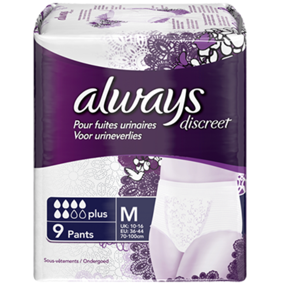 Always discreet sous-vêtements plus - taille m - always -201068