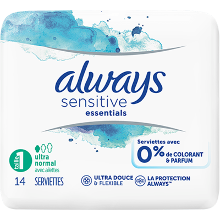 Always sensitive essentials taille 1 ultra normal x14 Always-225252