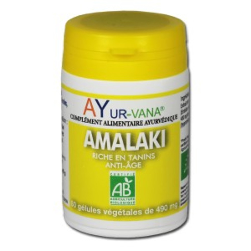 Amalaki bio - pilulier 60 gélules végétales - divers - ayur-vana -188768