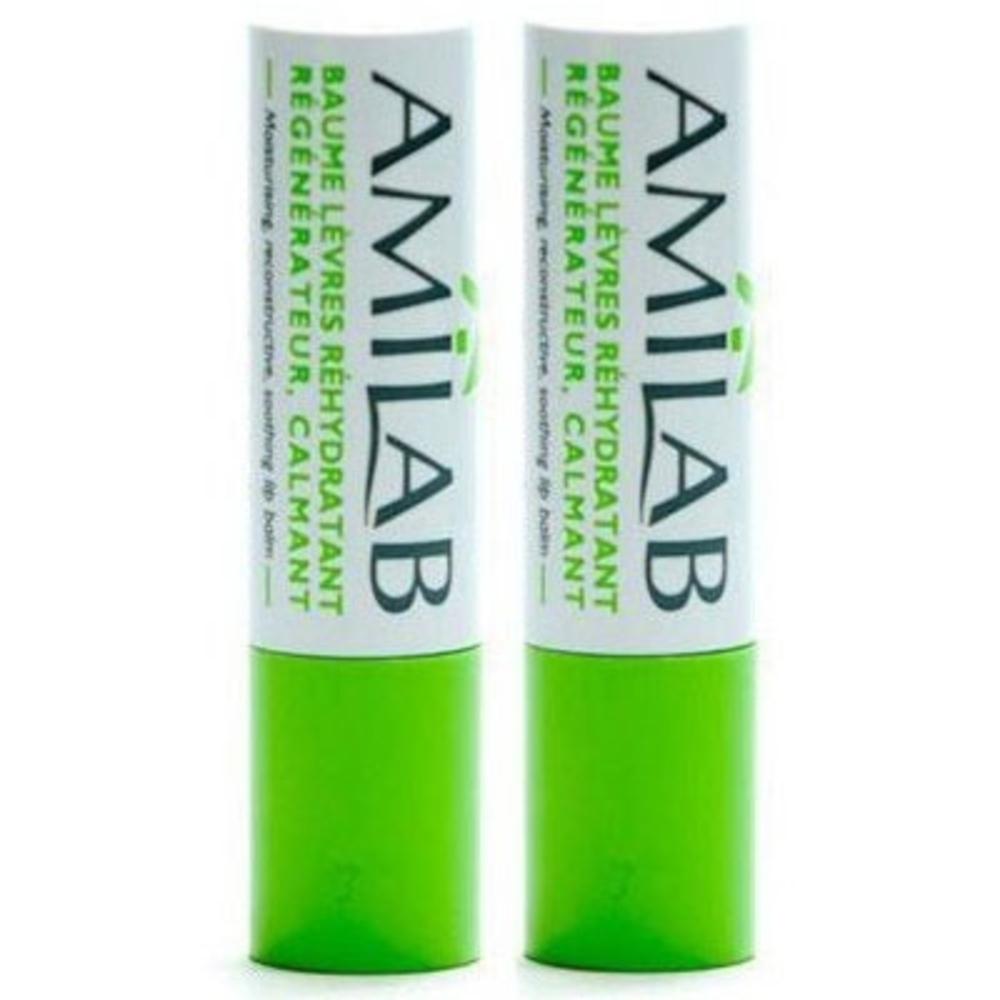 Amilab lot de 2 sticks à lèvres + trousse - amilab -206601