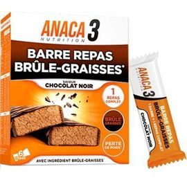 Anaca 3 barre repas brûle-graisses chocolat noir x6 - anaca 3 -226744