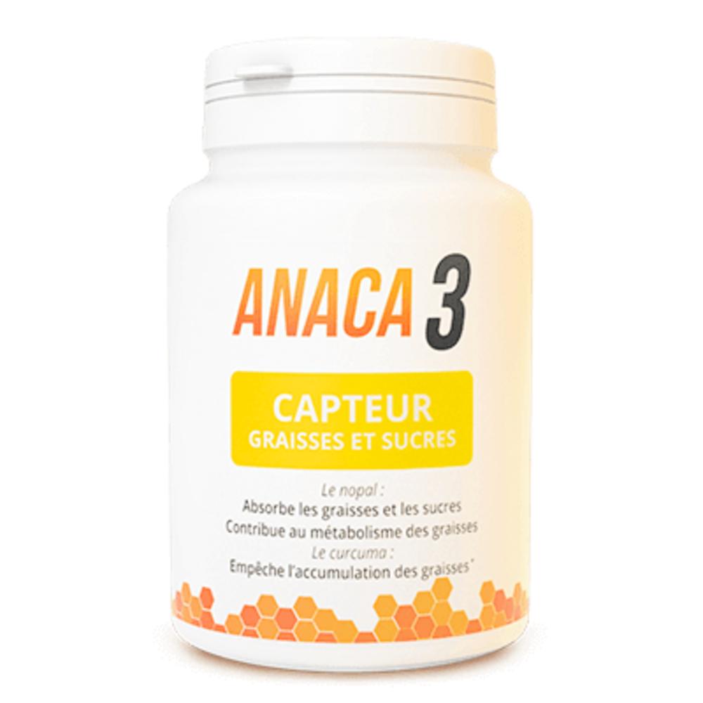Anaca 3 capteur graisses et sucres 60 gélules - anaca 3 -213536