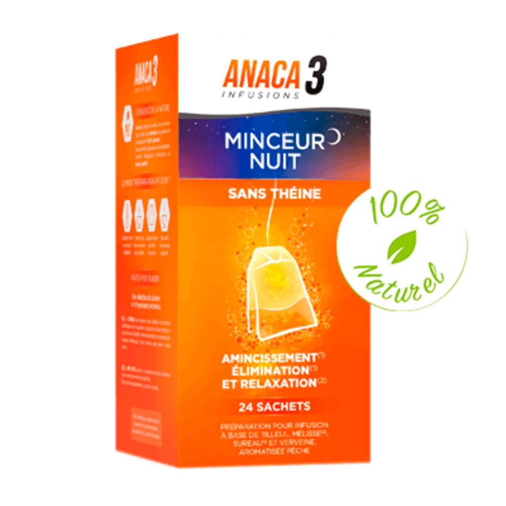 Anaca 3 infusion minceur nuit 24 sachets - anaca 3 -225411