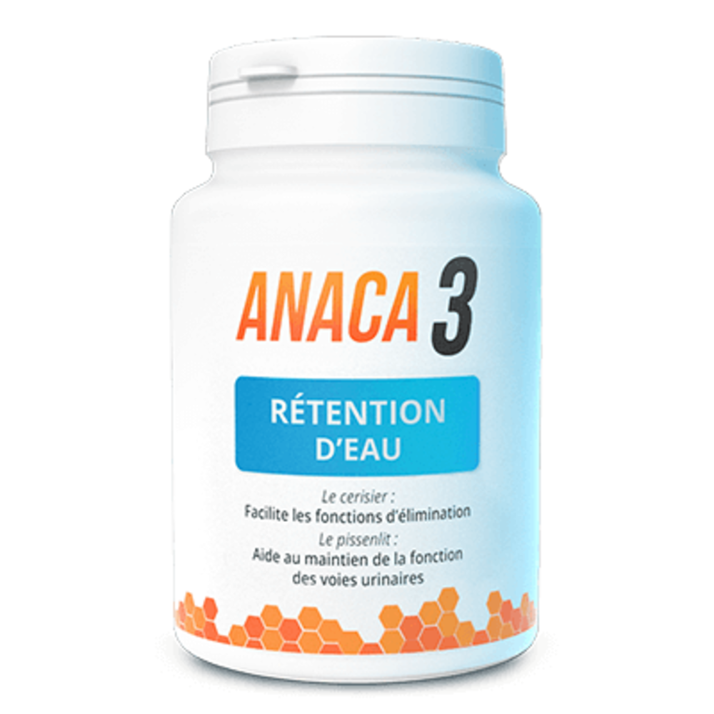 Anaca 3 rétention d'eau 60 gélules - anaca 3 -219409